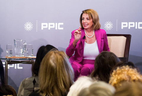 Photo of Congresswoman Nancy Pelosi and Mark Baldassare