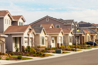 Photo of tract housing in California