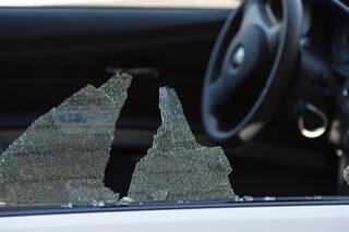 photo - Broken Car Window