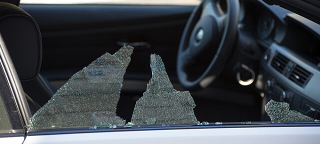 photo - Broken Car Window