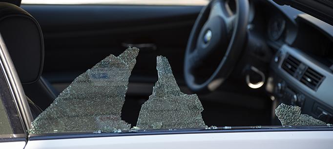 Theft And Broken Car Window