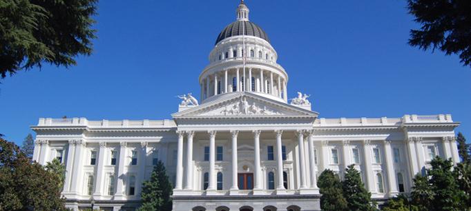 CA Capitol Head On Shot