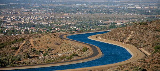View Of The California Aqueduct. Shot 4/17/2007. *FOR EDITORIAL USE ONLY.