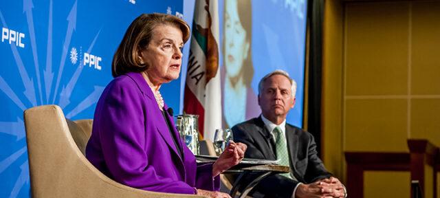 photo - Senator Dianne Feinstein and Mark Baldassare