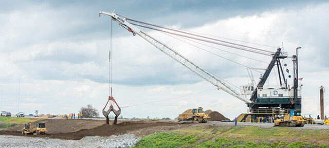Levee repairs continue on Tyler Island in California