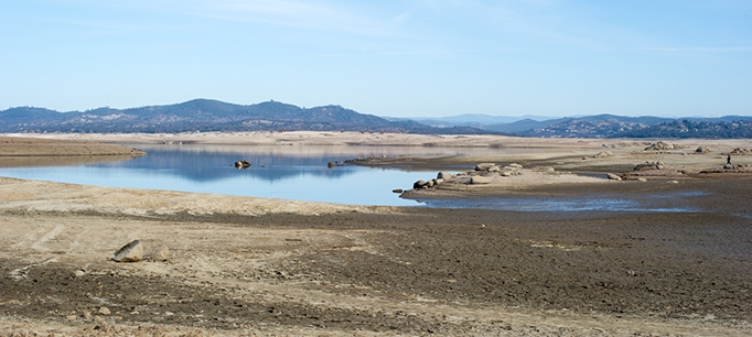 Extremely Low Water Levels At Folsom Lake. 1/31/14