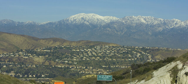 Photo of a scenic view of Mt. Baldy in San Bernardino County