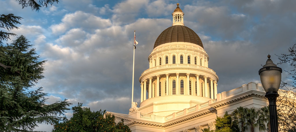 California State Capitol Building In The Evening