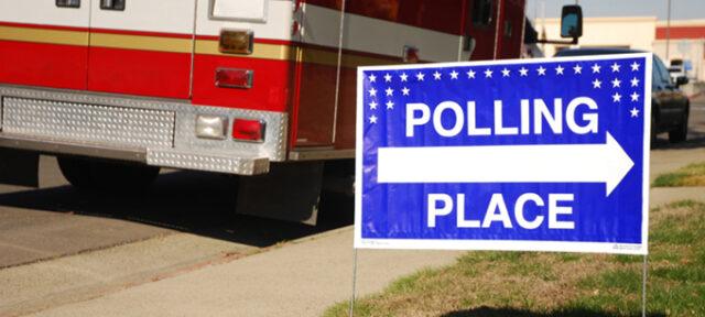 PollingPlaceSignwithTruck
