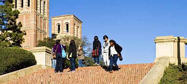Students on UCLA Campus
