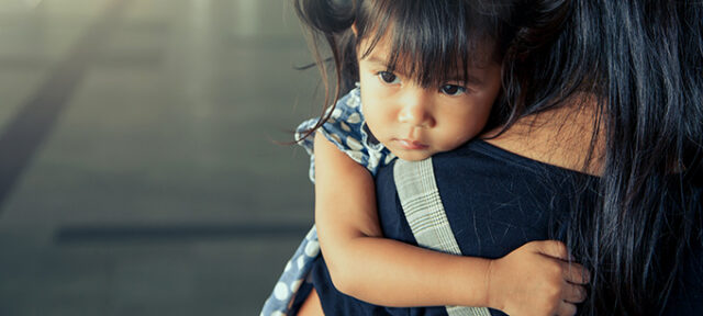 Photo of child with Mom