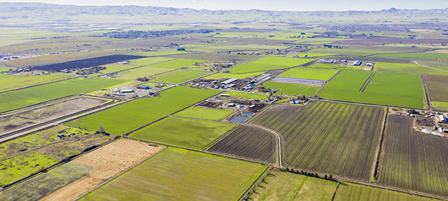 photo - Aerial View of Farmland in Central Valley, California