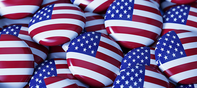 photo - American Flag Buttons