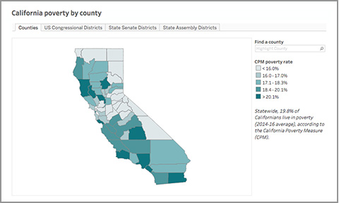 California Poverty by County and Legislative District - Public ... on
