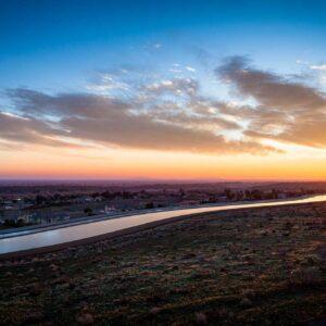 photo - California Aqueduct Glistens at Dawn