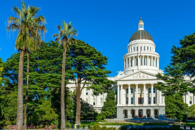photo - California State Capitol and Palm Trees