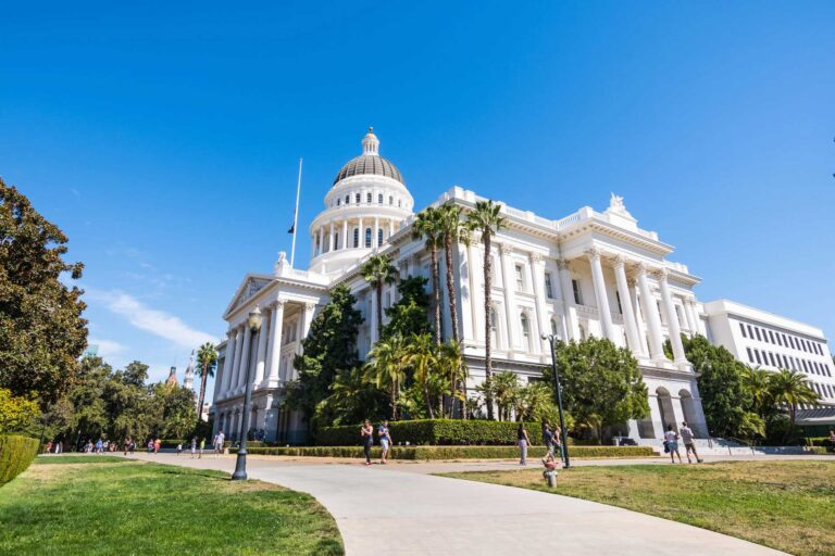 photo - California State Capitol From a Distance With People