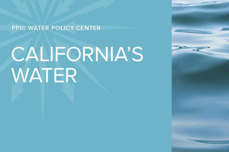 Cover shot of California's Water