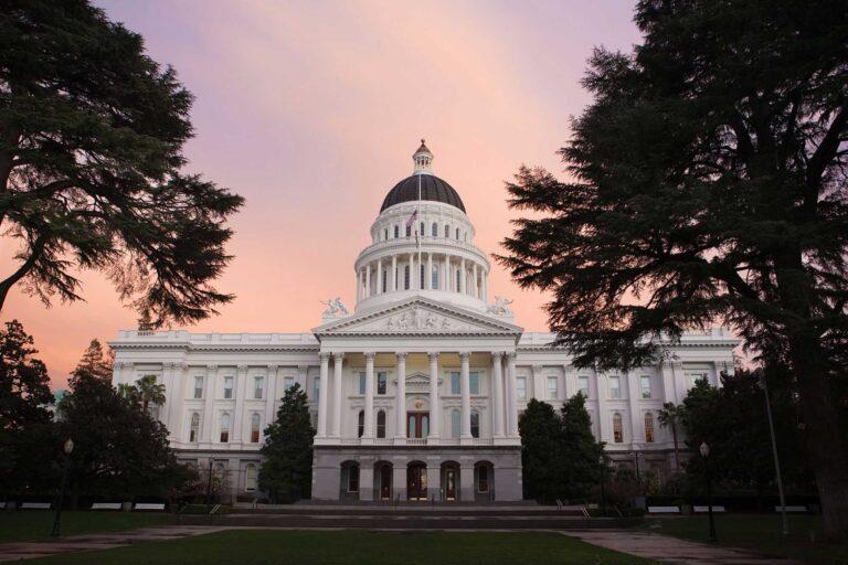 photo - Capitol Building in Sacramento, California at Sunset