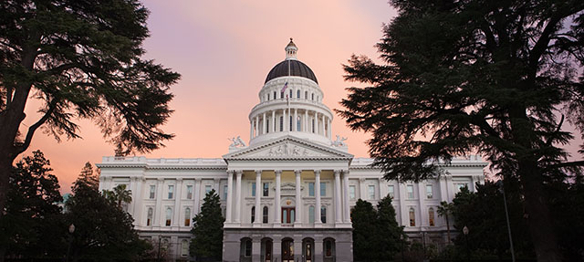 photo - The Capitol Building of California at Sunset