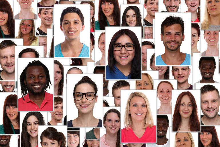 photo - Collage of people portraits