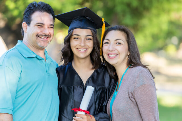 image - College Graduate with her Parents