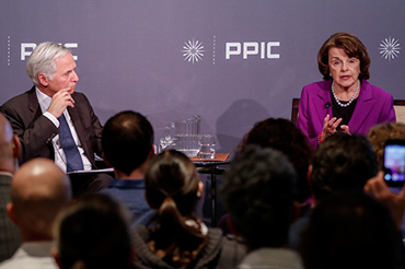 Mark Baldassare, PPIC president and CEO, and US Senator Dianne Feinstein