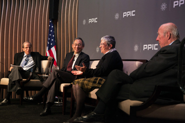Michael Krasny, host of Forum, KQED Radio, Steven Chu, former secretary of energy, U.S. Department of Energy, 