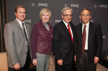 Matt Sutton, Marilyn Sutton, Tom Sutton, and Steven Chu