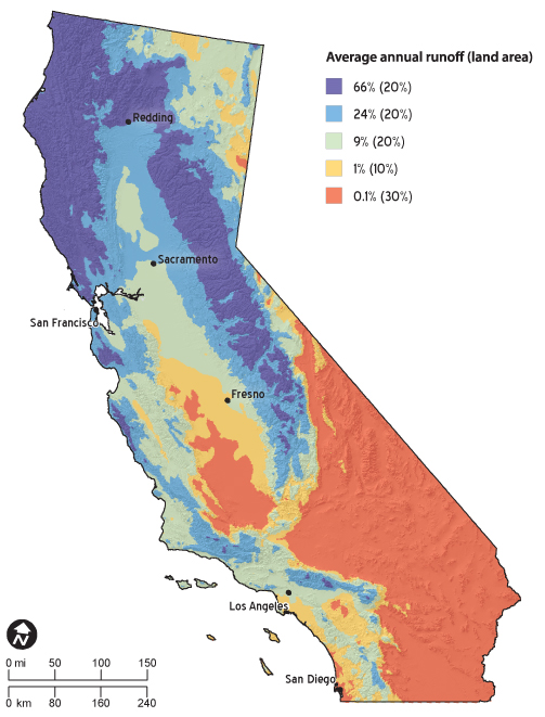 California Climate Map California's Variable Climate   Public Policy Institute of California California Climate Map