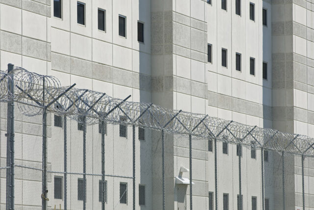 photo of county jail fence