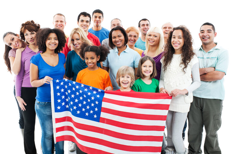 Photo of People Holding American Flag