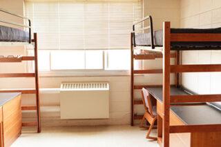 Photo of empty dorm room