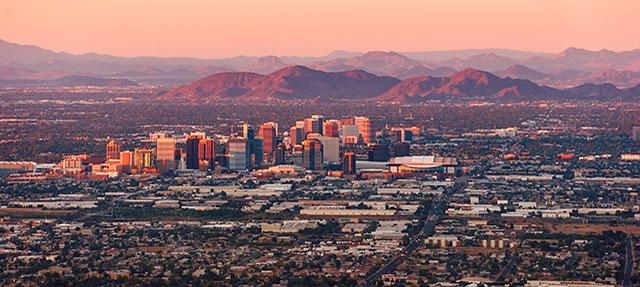 photo - Downtown Phoenix, Arizona at Dusk