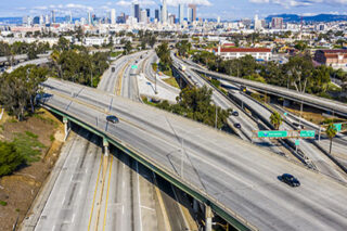 photo - Empty Los Angeles Freeways During Coronavirus Pandemic