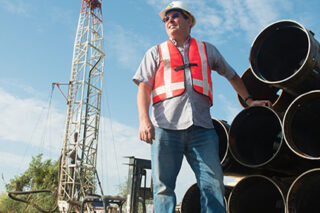 photo - Engineer and a New Water Well Installation, Porterville, California