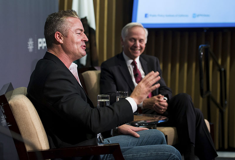 Assemblymember Travis Allen And PPIC President And CEO Mark Baldassare