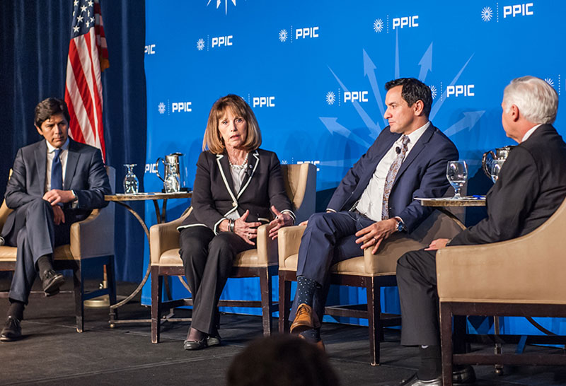 Senator Kevin De León, Senator Patricia Bates, Speaker Anthony Rendon, And PPIC President And CEO Mark Baldassare