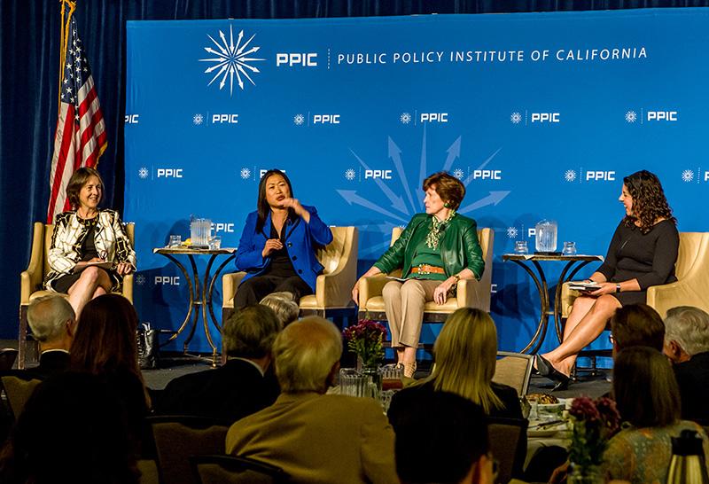 Senator Nancy Skinner, Senator Janet Nguyen, Senator Becky Morgan (1985–1993), And Moderator Jennifer Medina Of The New York Times