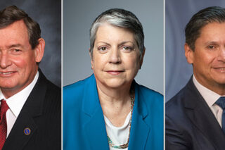 Photo of Timothy White Janet Napolitano, Eloy Ortiz Oakley