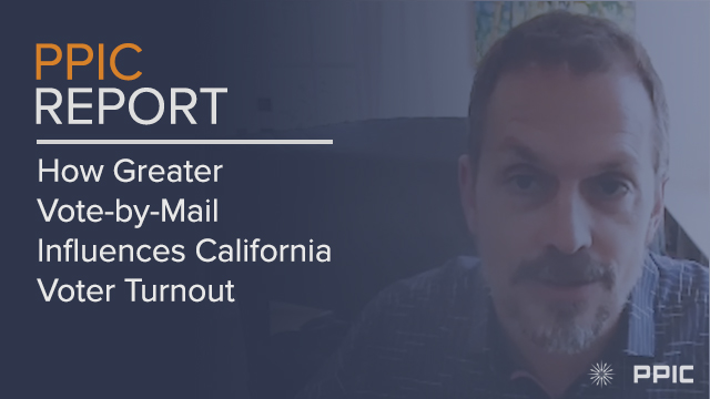 Video Image: How Greater Vote-By-Mail Influences California Voter Turnout