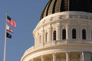 photo - Flags Fly at California's Capital Building
