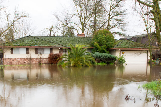 Flooded House And Street Elk Grove Ca