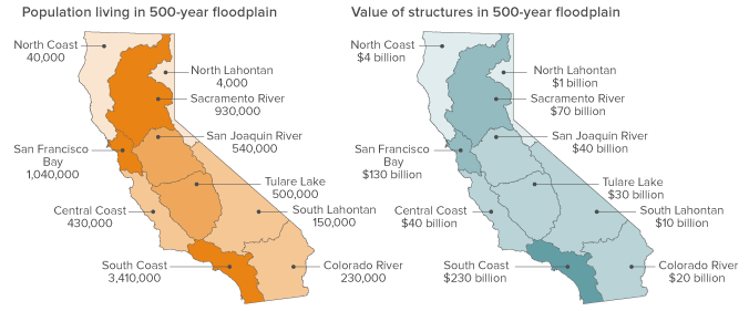 Maps - Flood risk is high throughout California