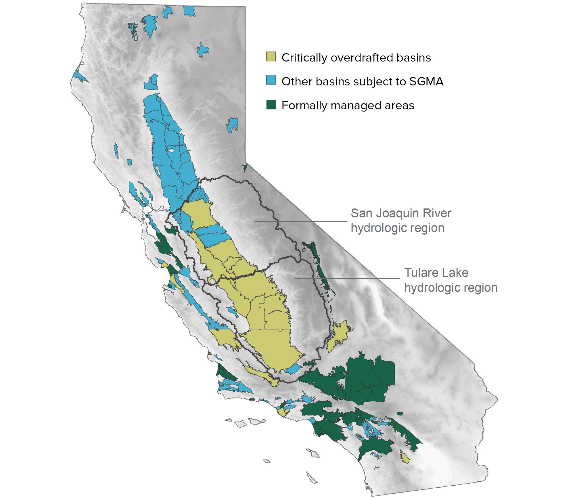 figure - The valley is home to most of the states critically overdrafted basins