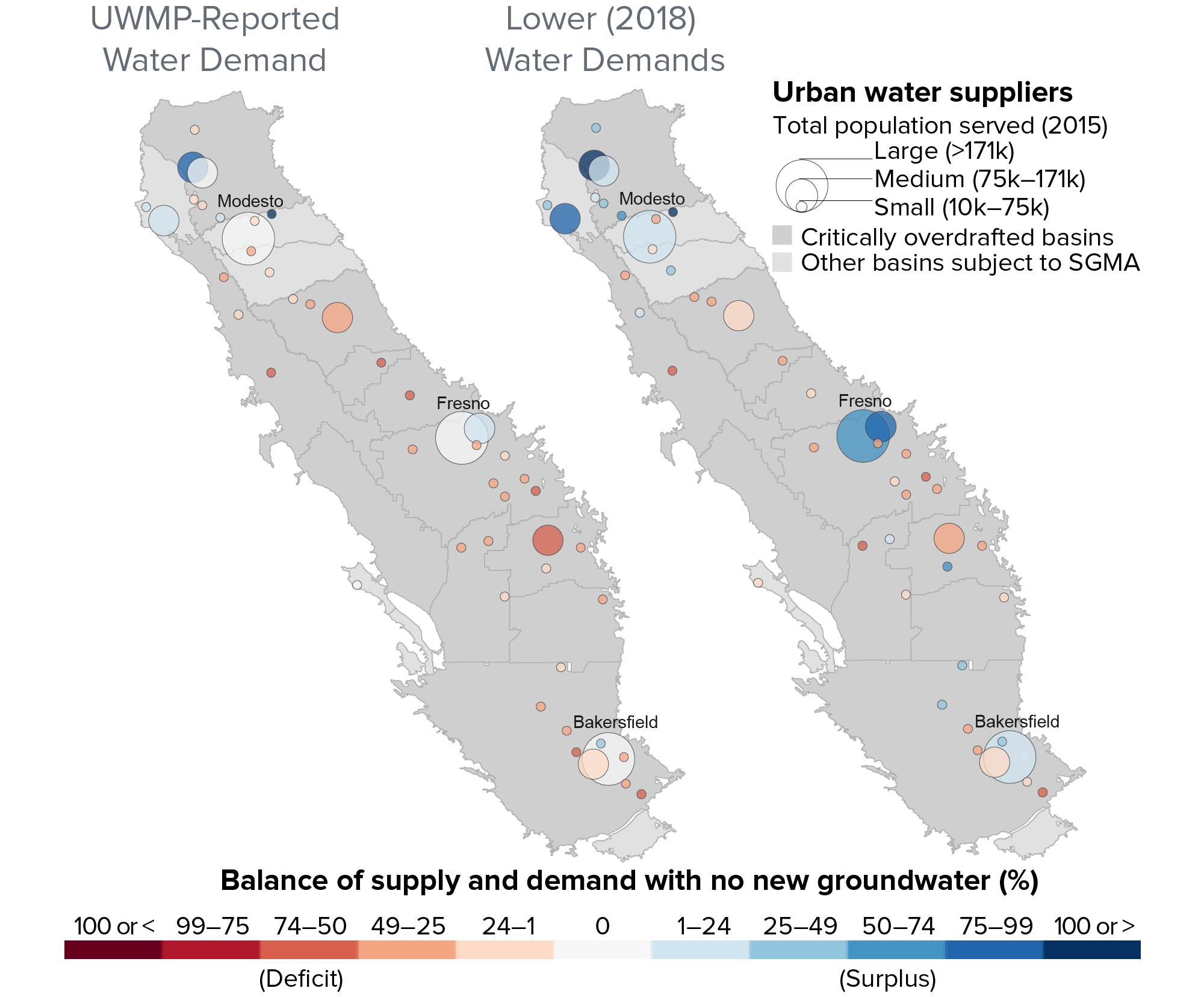 figure - Water demand and supply projections demonstrate potential for shortfalls