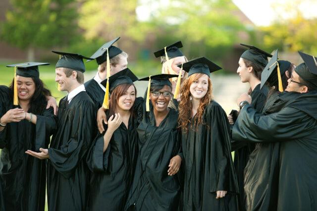 photo - college graduates celebrating