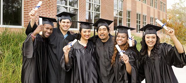 photo - Happy College Graduates