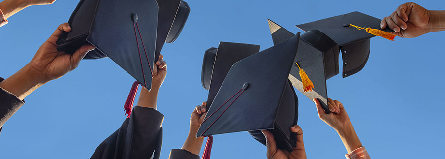 photo - Mortar Boards Held Up High