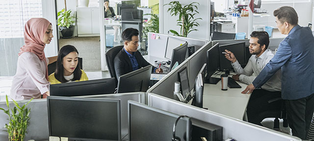 photo - High-tech Workers in Office